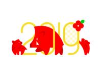 Happy New Year 2019 - Boar Year -