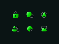 Messenger Icon Set