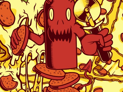 The littlest Pizzza Devil illustration vector stickerpack sticker pizza