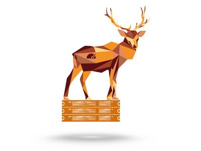 Elk Polygon Illustration