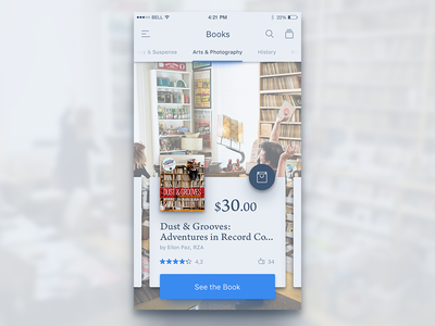 Store, Books Cataloge. store simple app ux ui book e-shop