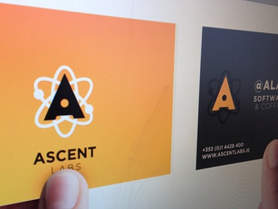 Ascent Labs Business Cards