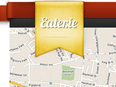 Eater.ie eat ribbon menu logo