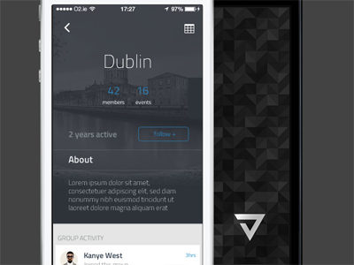 Dublin Hub iphone app ios dublin ireland dark