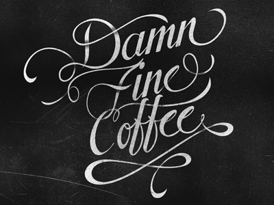Damn Fine Coffee brand typography lettering custom distressed indie script