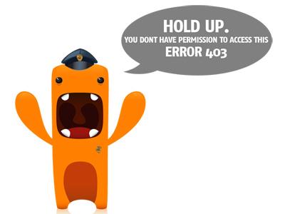 403 Monster 403 error monster illustration cop police