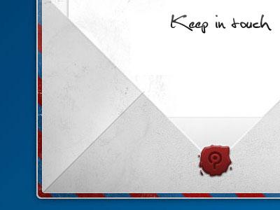 Newsletter newsletter blue red stamp wax texture paper