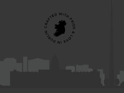 Dublin footer pride logo ireland dublin silhouette