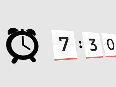 Alarm clock minimal grey gray