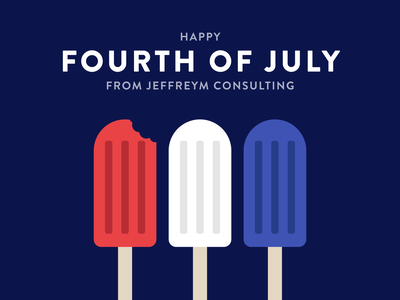 Happy Fourth of July! social media web graphic design design flat icon minimal vector illustration