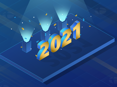 Happy New Year! january holidays icon ui app microsoft branding vector 3d illustration xbox gradient isometric new years eve new years new year