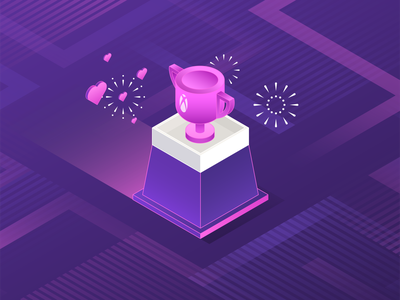 Microsoft Rewards Refresh - February ui microsoft 3d isometric pattern trophy heart valentines day gradient xbox logo flat icon graphic design minimal branding vector illustration