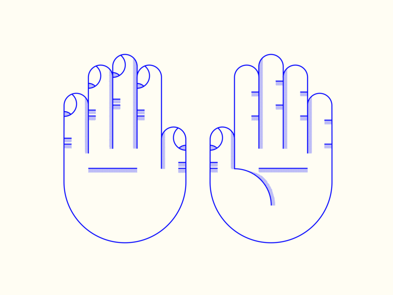 back front palm of hand simple halftone palm back of hand hands vector line design illustration stylized