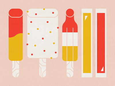 Popsicles mid century modern cherry mango pop strawberry shortcake ice cream rocket pop otter pops icecream frozen ice treats popsicles food design illustration stylized