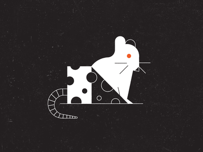 Vectober 06 – Rodent grunge texture geometric grunge simple inktober vectober cheese mouse rat rodent design illustration stylized