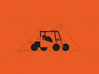 Vectober 13 – Dune dune buggy sand paper texture peaks vehicle four wheeler vectober inktober dune design illustration stylized