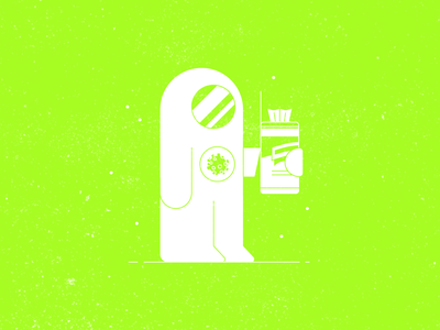 Vectober 14 – Armor hasmat suit coronavirus disinfecting safety gear vectober inktober armor pandemic spaceman future lysol wipes covid 19 character vector design illustration stylized