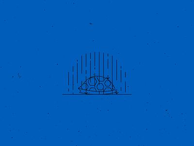Vectober 17 – Storm minimal vectober inktober rain cover hiding storm turtle vector design illustration stylized