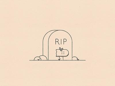 Vectober 23 – Rip line design minimal paper texture vectober inktober rip gravestone skateboard skater design illustration stylized