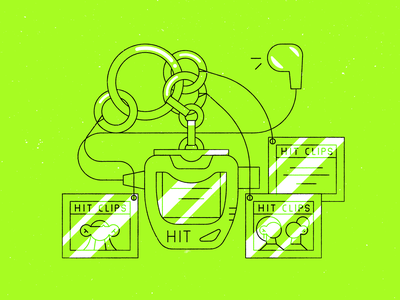 Vectober 27 – Music throwback simple retro tbt 2000s hit clips line vectober inktober music vector design illustration stylized