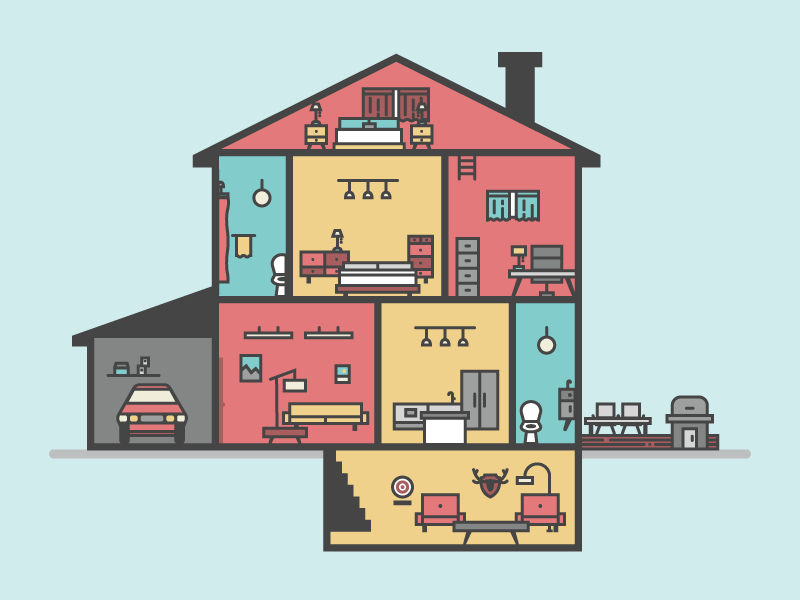House cross section by mia ditmanson for siege media on - House with a view ...