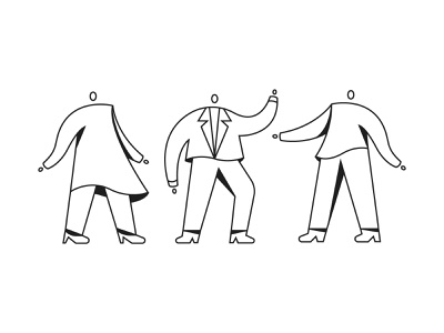 People minimal vector drawing character figures people line design illustration stylized