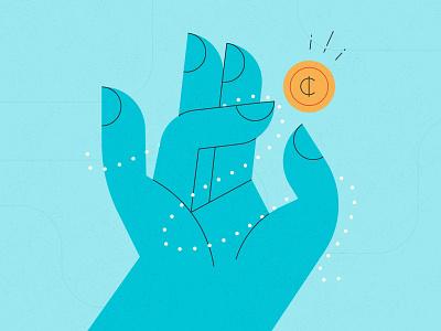 Financial Stress money stress meditating vector hands money design stylized illustration