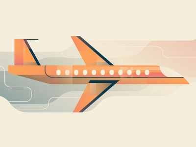 Plane sky travel airplanes airplane design illustration stylized