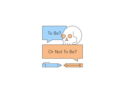 to be or not to be monologue hamlet pencil pen speech line design difficult question shakespeare to be or not to be skull design illustration stylized