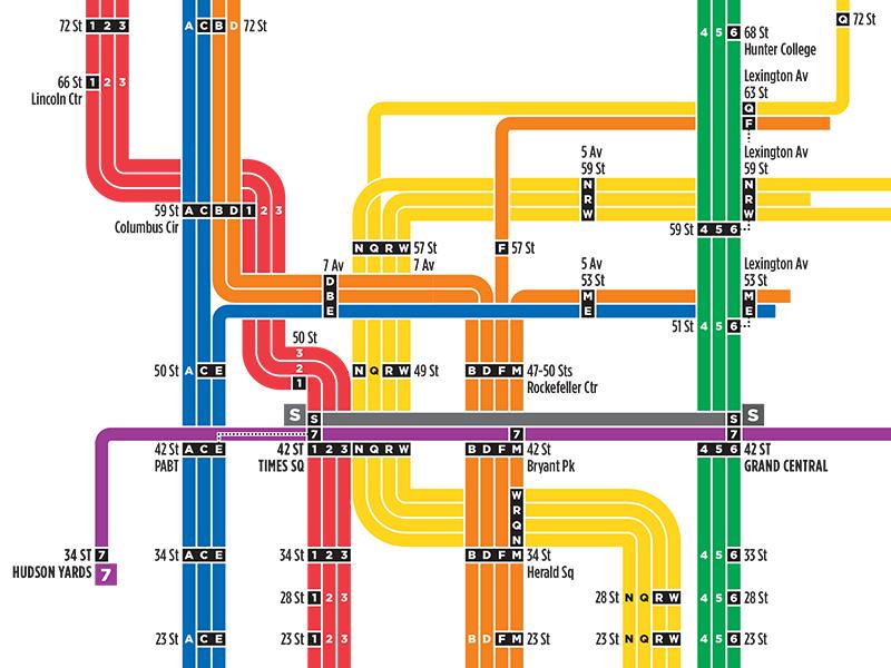 Gotham Nyc Subway Map 2 By Michael Tyznik Dribbble Dribbble