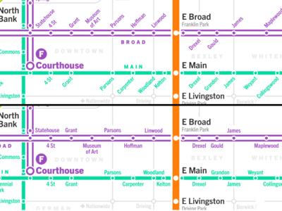 Transit Stop Labeling Comparison