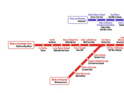 Cork Transit Map - West