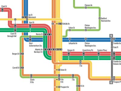 New York Transit Map Experiment