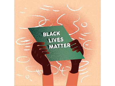 Black Lives Matter black lives matter black history month minority representation illustration
