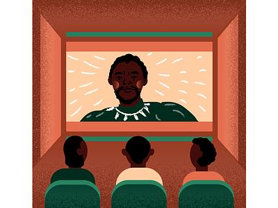 Black Panther (Part 2 of Black History Month Series) illustration movie media representation black history month black panther