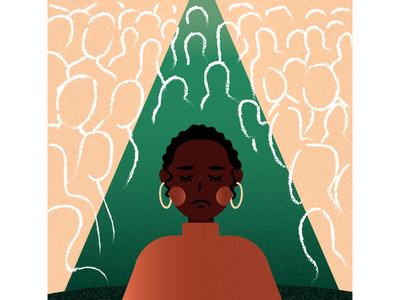 Isolation (Part 3 of the Black History Month Series) african american black woman illustration minority representation black history month isolation