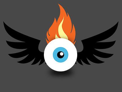 New Web Logo Update website logo flame eyeball illustration patrick lee zepeda