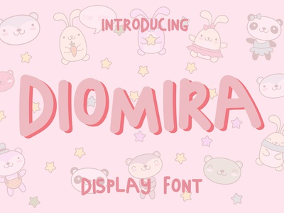 DIOMIRA-DISPLAY FONT charming adorable pretty display font bubbly curvy quirky handwritten handwriting handdrawn thick bold fun cute