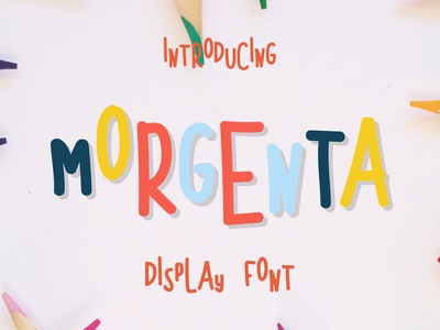 MORGENTA-DISPLAY FONT charming pretty display font adorable bubbly curvy quirky handwritten handwriting handdrawn thick bold fun cute