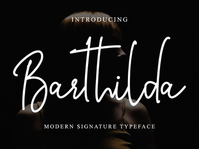 Barthilda girly feminine stylish branding style natural casual script handwritten handwriting
