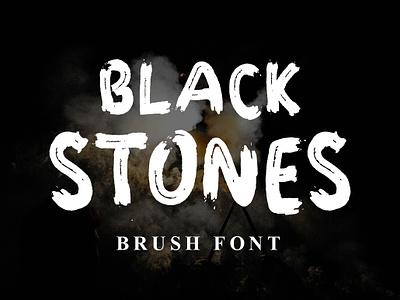 BLACK STONES branding party adventure skate apparel logo clothing poster elegant brush natural