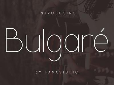Bulgare-Sans serif Font logotype baran elegant classic modern tittle magazine logo branding sans