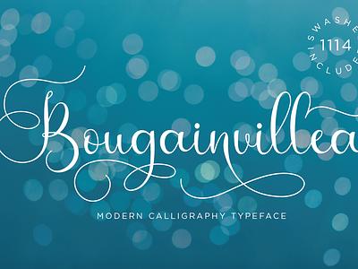 Bougainvillea Script design fun pretty charming handdrawn elegant adorable cute stylish style script girly feminine casual natural handwritten branding handwriting