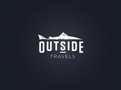 Outside Travels branding identity fly fishing travel logo travel fish fishing logotype logo