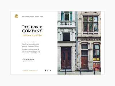 Webdesign Real Estate Invest web design ui webdesign