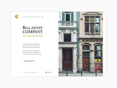 Webdesign Real Estate Invest web design ui webdesign