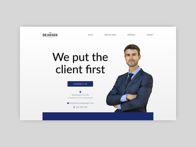 Lawyer Kris Dejaeger independent freelancer website design web design agency web design
