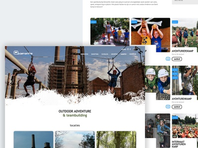 Oenanthe natuursport webdesigner design wordpress developement webdesign
