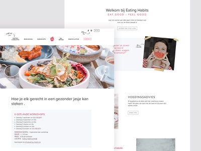 eating habits ui design webdesign website developement web design design
