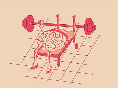 Brain Gym Exercises 2d illustration brain exercise gym